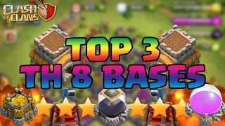 getlinkyoutube.com-Clash Of Clans Top 3 BEST Town Hall 8 TH8 Defense Strategy WAR/TROPHY/HYBRID Base Design 2016