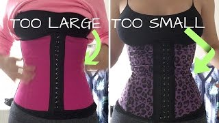 Waist Trainer Too Big VS  Too Small Demonstration