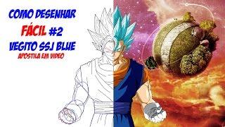 getlinkyoutube.com-Como Desenhar Fácil #2 - Vegito SSJ Blue - Passo a Passo