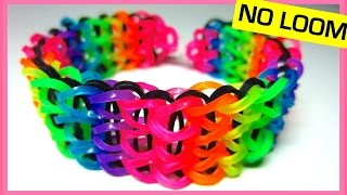 getlinkyoutube.com-Triple Single Rainbow Loom Bracelet without Loom (on Two Forks)