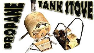 getlinkyoutube.com-Propane Tank Pot Belly Stove Build
