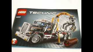 getlinkyoutube.com-LEGO Technic 9397 Logging Truck Time Lapse Build