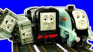 getlinkyoutube.com-Thomas Bachmann Spencer Diesel Troublesome Trucks Trouble On The Tracks