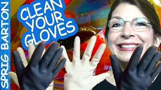 getlinkyoutube.com-How To: CLEAN KITCHEN GLOVES & RUBBER GLOVES: Sprig Barton Visual Walkthrough Tutorial Inside Out