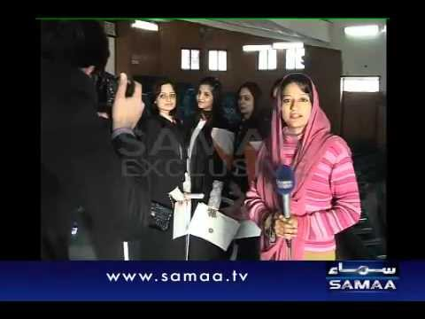Girl students get Msc degrees in Lahore College.