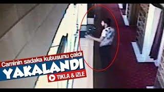 Sakarya'da bir kişi caminin sadaka kutusunu çaldı