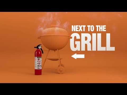 A video showing how to use a fire extinguisher.