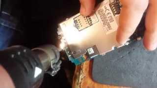 getlinkyoutube.com-LG Optimus L4 II E440 замена touchscreen