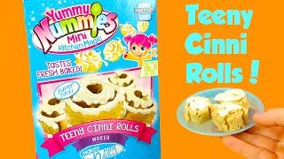 getlinkyoutube.com-Yummy Nummies Teeny Cinni Rolls Make Cinnamon Rolls Taste Test!