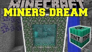 getlinkyoutube.com-Minecraft: MINERS DREAM (DIMENSION WITH TONS OF ORES, ITEMS, & MORE!!) Mod Showcase
