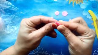 getlinkyoutube.com-soguk porselen hamurundan minik gül yapimi