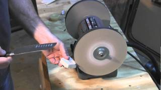 getlinkyoutube.com-Do you want Razor Sharp knives. I'll show you how using a new product and a bench grinder