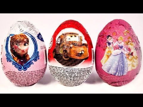Surprise Eggs Cars 2 Frozen Disney Princess Huevo Kinder Sorpresa easter egg by Unboxingsurpriseegg