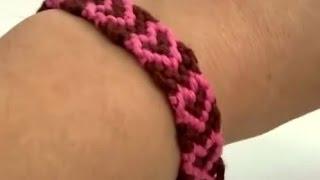 getlinkyoutube.com-Cara membuatan gelang tangan motiv hati untuk hari valentine - DIY merajut gelang tangan hati