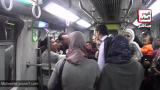 getlinkyoutube.com-شاهد فتاة تعطل المترو لمنع التحرش  الجنسي بالسيدات