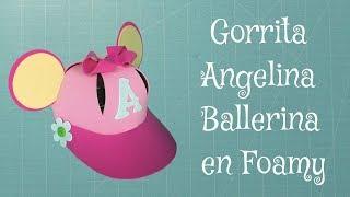 getlinkyoutube.com-DIY Gorro Angelina Ballerina en Foami, Goma Eva, Microporoso, Easy Crafts