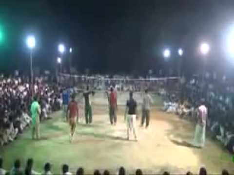 shooting volleyball match