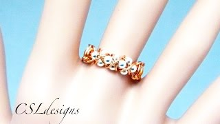 getlinkyoutube.com-Triple row goddess wirework macrame ring