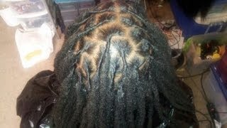 How to retwist large dreads