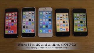 getlinkyoutube.com-iPhone 5S vs. 5C vs. 5 vs. 4S vs. 4 iOS 7.0.2 - Benchmark Speed Performance Review
