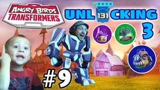getlinkyoutube.com-Dad & Chase play Angry Birds Transformers! Level 131 + Unlocking 3 Again! (Part 9)