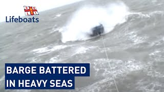 getlinkyoutube.com-Dover RNLI volunteers rescue 65ft barge in heavy seas