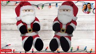 getlinkyoutube.com-Santa Claus en Paño Lency Hecho a Mano Paso a Paso