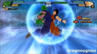 getlinkyoutube.com-Gohan and Piccolo Potara Fusion VS Gogeta (Dragon Ball Z Budokai Tenkaichi 3 mod)