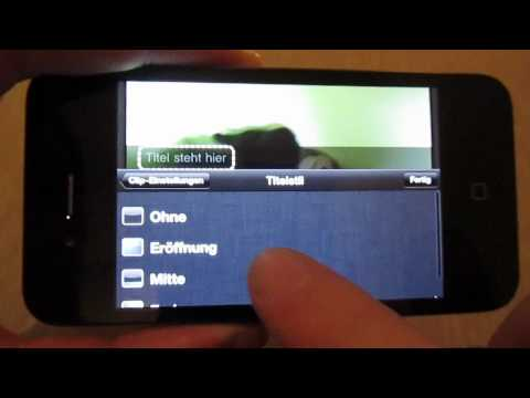 iPhone 4: iMovie App im Test (Deutsch)