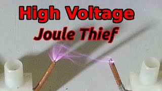 getlinkyoutube.com-High Voltage Joule Thief with Flyback - 10,000 Volts