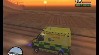 getlinkyoutube.com-GTA SA ZZS LK průjezd + ukázka špatně uhýbajících řidičů