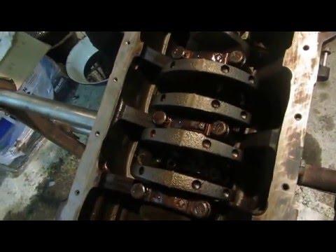 Сборка двигателя Хёндай Акцент  установка поршней