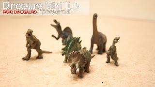getlinkyoutube.com-HD Jurassic Park Papo Dinosaurs - Dinosaur Time. Mini Tube Models Review (Replica). Unboxing