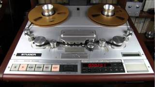"getlinkyoutube.com-Studer A820 master recorder editing capabilities - 1/2"" tape"