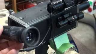 DIY night vision spotter Part 1. Now modified as a electronic spotting scope.