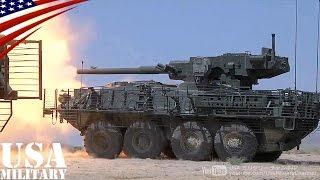 getlinkyoutube.com-ストライカー装甲車 105mm戦車砲 (M1128機動砲システム  Stryker MGS)