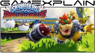 getlinkyoutube.com-7-Minutes of Bowser & Clown Cruiser in Skylanders SuperChargers (Direct Feed Gameplay)