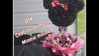 getlinkyoutube.com-(DIY) Centros de mesa Minnie mouse