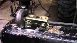 getlinkyoutube.com-Welding Hooks to Tractor Bucket, Miller 211, Fein Grinder