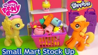 MLP Shopkins Season 2 Small Mart 12 Pack My Little Pony POP Applejack Fluttershy Toy Blind Bags