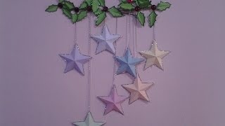 getlinkyoutube.com-Colourful Paper Stars Wall Hanging