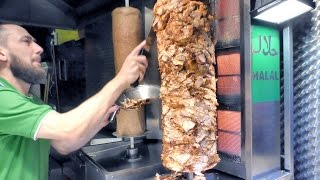 getlinkyoutube.com-London Street Food. Turkish Kebab of  Chicken and Lamb Seen in Camden Market