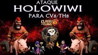 getlinkyoutube.com-Clash of Clans - Ataque HOLOWIWI - CV8/TH8