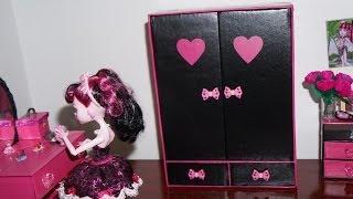 getlinkyoutube.com-Como fazer guarda-roupa #2 para boneca Monster High, Barbie e etc