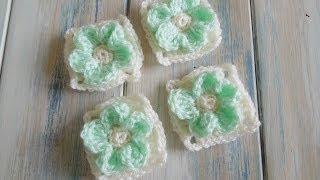 getlinkyoutube.com-(crochet) How To - Crochet an Embossed Flower Granny Square - Yarn Scrap Friday