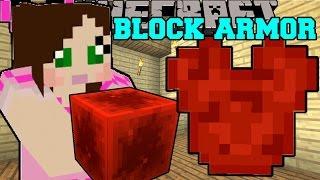 Minecraft: EPIC BLOCK ARMOR! (CRAFT ALMOST ANY BLOCK INTO ARMOR!) Mod Showcase