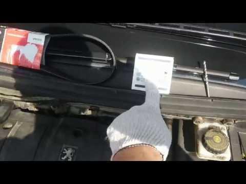 Peugeot 307 (Пежо 307) замена ремня генератора и ролика натяжителя