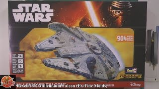 getlinkyoutube.com-Revell 1/72nd Millennium Falcon  -  Finemolds review
