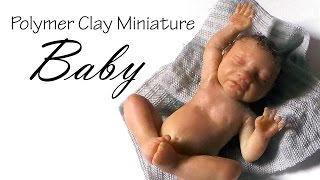 getlinkyoutube.com-Miniature Baby Tutorial Pt. 1 (Head) - Polymer Clay Tutorial