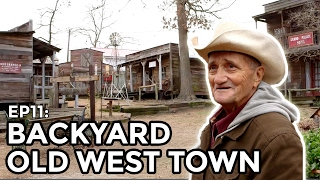 Old West Town Built in Backyard - COOLEST THING I'VE EVER MADE: EP11